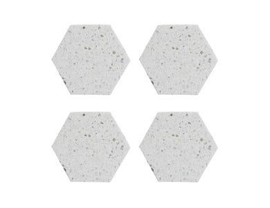 Image for Elements Terrazzo Set 4 Hexagonal Coaster