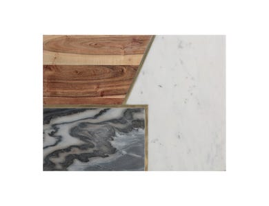 Image for Elements Marble/Acacia 40 X 30cm Rect Board