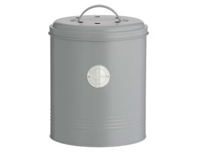 Image for Living Grey Compost Caddy