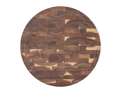 World Foods 30cm End Grain Acacia Round Board