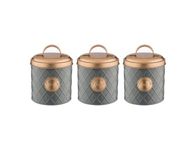 Henrik Set Of 3 Tea/Coffee/Sugar Storage