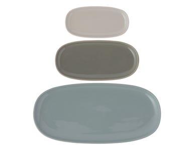 World Foods Set Of 3 Platters