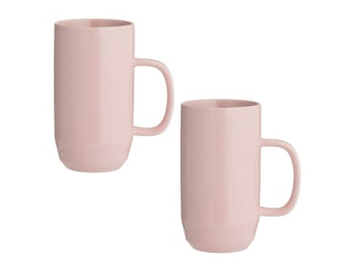 Cafe Concept Set Of 2 Pink Latte Mugs 550ml