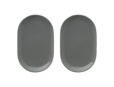 Cafe Concept Set Of 2 Dark Grey Snack Saucers