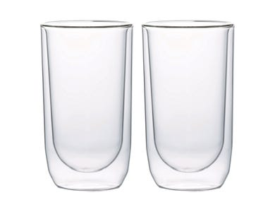 Cafe Concept Set Of 2 D/Wall Latte Glasses