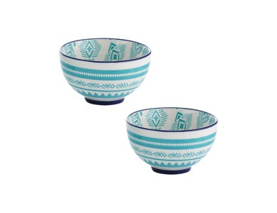 World Foods Set Of 2 9.5cm Lima Bowls