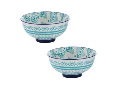 World Foods Set Of 2 11.5cm Lima Bowls