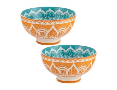 World Foods Set Of 2 15cm India Bowls