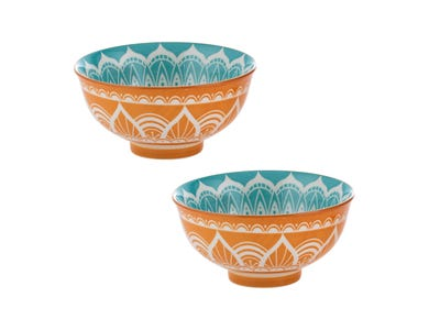World Foods Set Of 2 11.5cm India Bowls