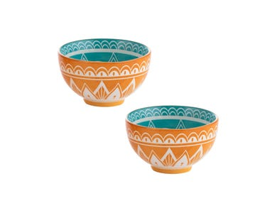 World Foods Set Of 2 9.5cm India Bowls