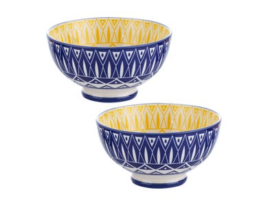 World Foods Set Of 2 15cm Tunis Bowls