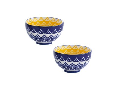 World Foods Set Of 2 9.5cm Tunis Bowls