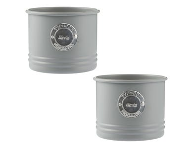 Living Grey Set Of 2 Herb Planters