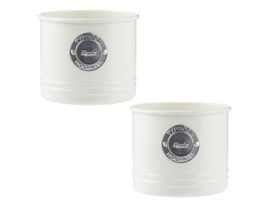 Living Cream Set Of 2 Herb Planters