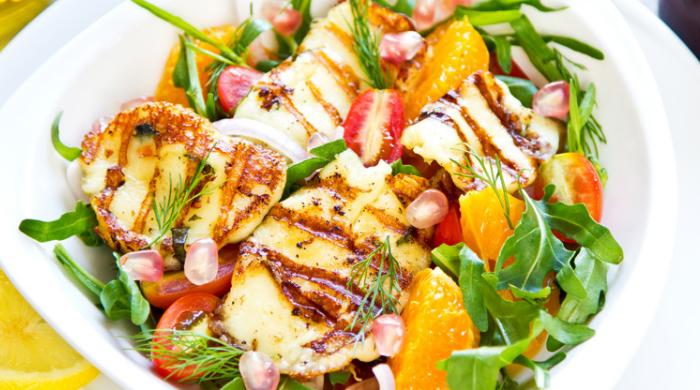 Homemade Halloumi Orange Salad