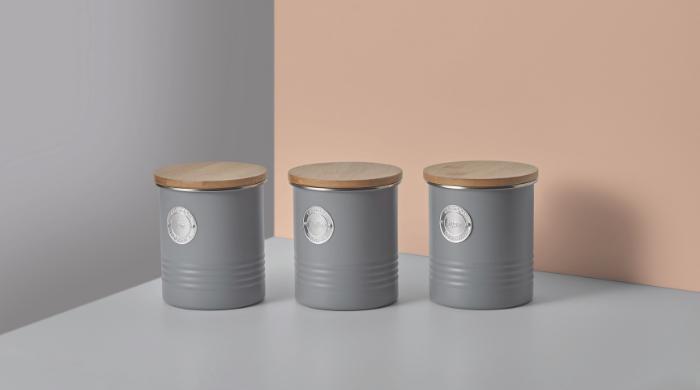 Set of 3 Tea, Coffee & Sugar Jars